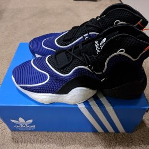 best service 8bf1d be89b Adidas crazy byw purple and black